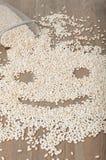Crujiente en una dimensión de una variable de la cara sonriente imágenes de archivo libres de regalías