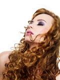 cruly långa hår Royaltyfri Fotografi