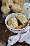 Crumb cake. Pie with a nut crumb Royalty Free Stock Photos