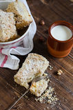 Crumb cake. Pie with a nut crumb Stock Photography