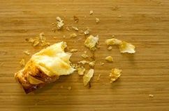 Crumb pie bread. On wood table stock images