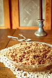 Crumb topped apple crisp pie Royalty Free Stock Image