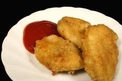 crumbed цыпленок Стоковое фото RF