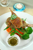 Crumbed Lamb Cutlets Royalty Free Stock Image
