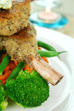 Crumbed Lamb Cutlets stock photography