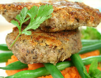 Crumbed Lamb Cutlets stock image