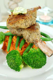 Crumbed Lamb Cutlets Royalty Free Stock Photography
