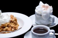 crumble кофе яблока Стоковая Фотография RF