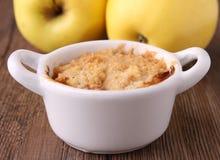 crumble яблока стоковые изображения rf