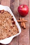 Crumble Яблока стоковая фотография rf