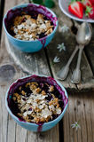 Crumble. Crumb with strawberry and bilberry Stock Photography