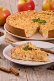 Crumble apple cake. Royalty Free Stock Images