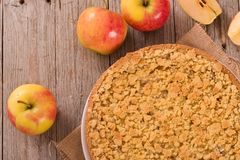 Crumble apple cake. Royalty Free Stock Photography