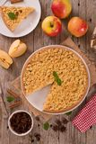 Crumble apple cake. Royalty Free Stock Photos