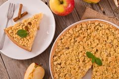 Crumble apple cake. Stock Photos