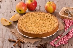 Crumble apple cake. Stock Images