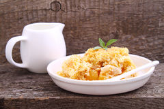 Crumble with apple. And cinnamon royalty free stock images