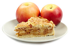 Crumble apple pie Royalty Free Stock Image