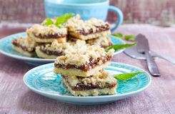 Crumble bars Royalty Free Stock Photo