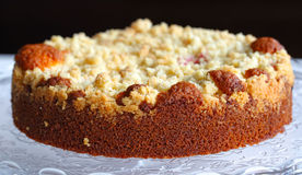 Crumble cake with rhubarb Royalty Free Stock Image