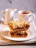 Crumble cakes with apple Stock Photography