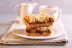 Crumble cakes with apple Royalty Free Stock Images