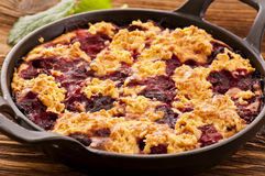 Crumble with cherry Royalty Free Stock Image
