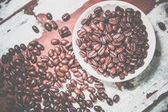 Crumble coffee beans on a plate Royalty Free Stock Photography
