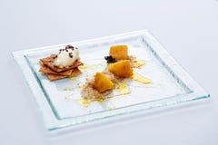 crumble jabłczany kremowy lód fotografia royalty free
