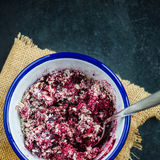 Crumble from Oats and Blackberries Royalty Free Stock Photography