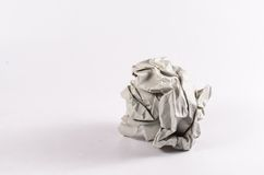 Crumble paper ball Royalty Free Stock Photo