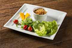 Crumble with salad. Gourmet food Stock Photo
