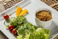 Crumble with salad. Gourmet food Stock Image