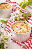 Crumble with strawberry and blackcurrant Royalty Free Stock Image