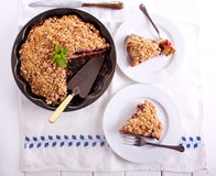 Crumble topping cake Royalty Free Stock Photography