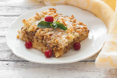 Crumble with walnuts Stock Image