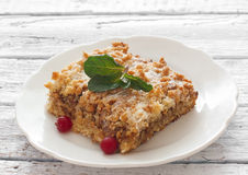 Crumble with walnuts Stock Images