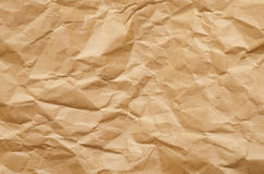 Crumbled brown paper background Royalty Free Stock Image
