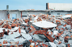 Crumbled building Royalty Free Stock Image