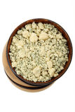 Crumbled Cheese Stock Image