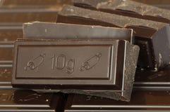 Crumbled chocolate bar Royalty Free Stock Image