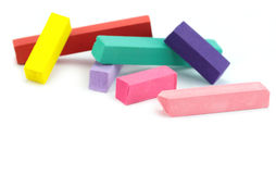 Colorfil chalks Stock Images