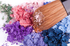 Crumbled eyeshadows Stock Image
