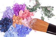 Crumbled eyeshadows Royalty Free Stock Photography