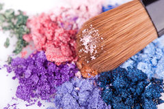 Crumbled eyeshadows Stock Photography