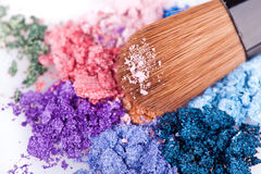 Crumbled eyeshadows Stock Photo