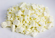 Crumbled Feta Cheese Stock Photo
