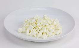 Crumbled Feta Cheese Royalty Free Stock Photos
