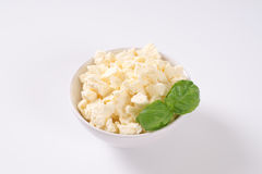 Crumbled feta cheese Royalty Free Stock Image