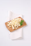 Crumbled feta cheese Stock Image